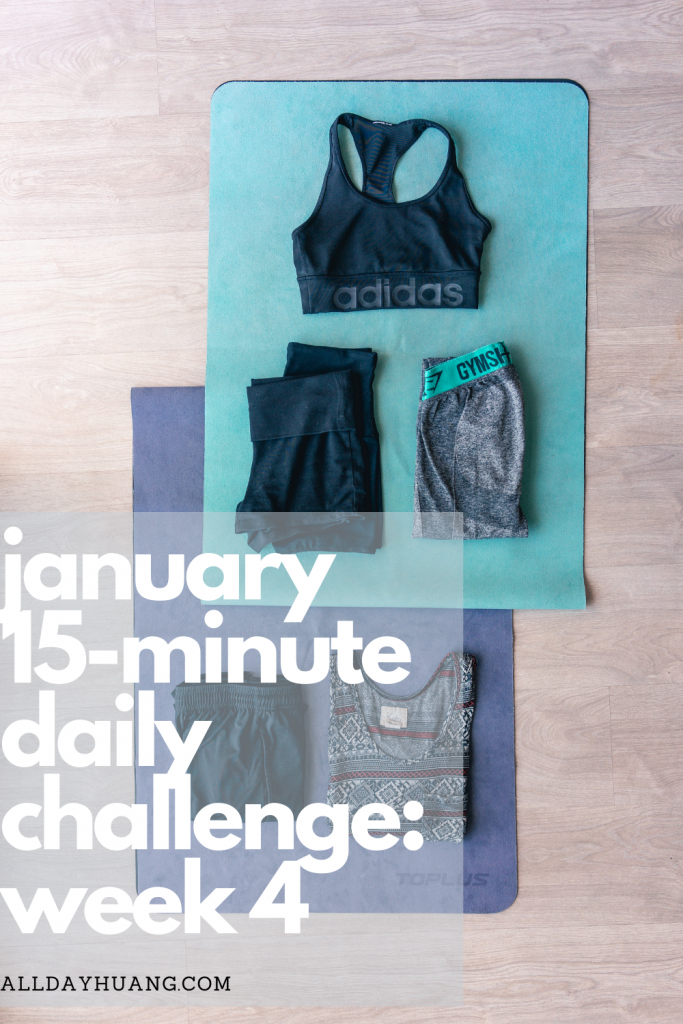 Workout clothes laid out on exercise mats.